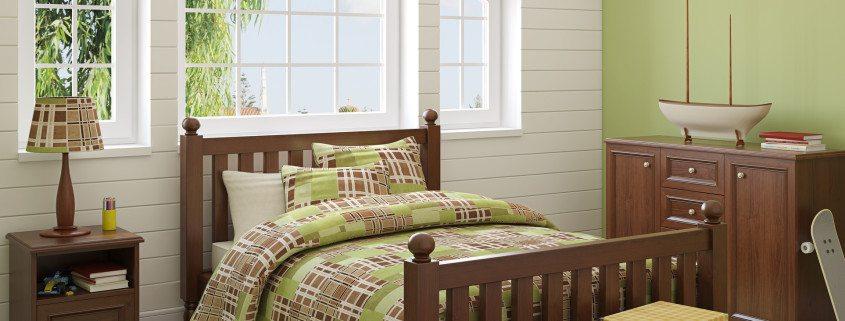 Green Living Bedroom