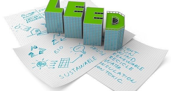 LEED buildings on sketches