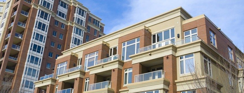 apartment building in Calgary. Alberta, Canada. Residential architecture